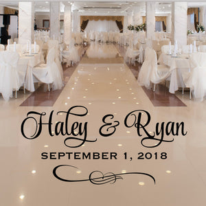 Personalized Wedding Dance Floor Decal - Wedding Reception Decor