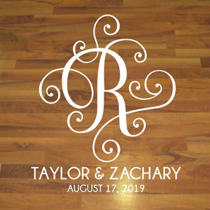 Custom Letter Vinyl Wedding Floor Decal Sticker