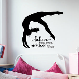Gymnastics Wall Decals - Inspirational Quotes for Girls