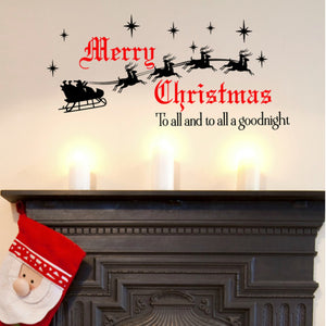 Merry Christmas To All a Good Night Santa Wall Decal