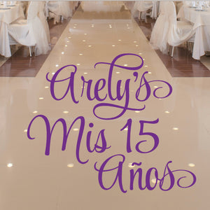 Personalized Quinceanera Removable Decal Sticker