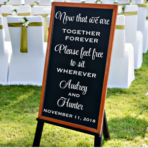 Seating Chart Wedding - Wedding Signage - Together Forever