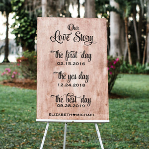 Our Love Story Personalized Wedding Decal