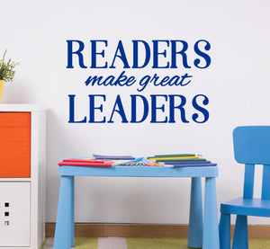 """Readers Make Great Leaders"" Inspirational Classroom Decor"