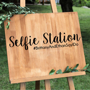 DIY Selfie Station Decal - Wedding Photo Booth Alternatives