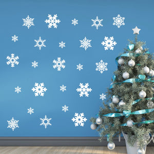 Large Snowflakes Wall Decal Stickers Winter Wall Decor