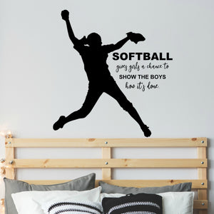 Inspirational Softball Decal