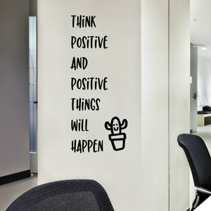 Think Positive Inspirational Wall Quote Decal for the Classroom