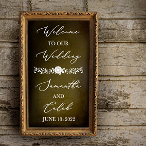 Welcome to Wedding Decal - Sunflower Wedding Theme