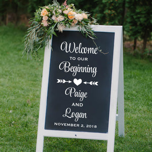 Welcome Wedding Signs - Wedding Church Decorations