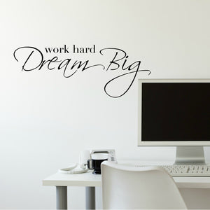Motivational Wall Decals - Work Hard Dream Big