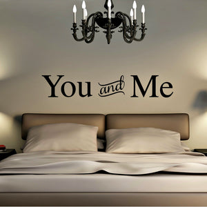 You and Me Romantic Wall Decal