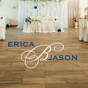 erica B Jason vinyl wall decal for wedding dance floor