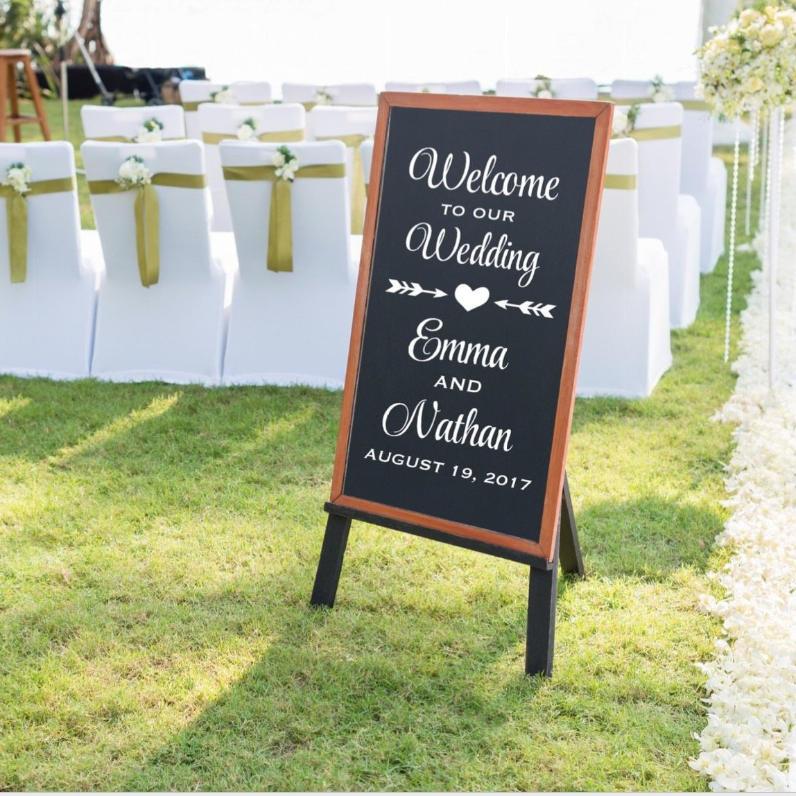 Welcome To Our Wedding Vinyl Sign Decal For
