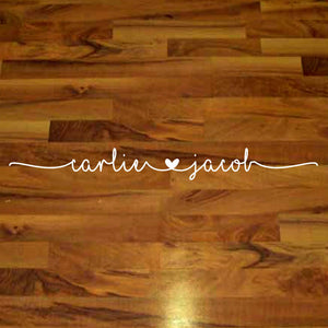 Personalized Wedding Dance Floor Decals - Custom Dance Floor Decal