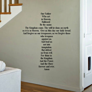 The Lord's Prayer for Children - Wall Decal for Church