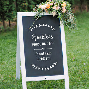 sparkler send off vinyl sign decals for wedding