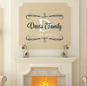 Davis Family established date family wall decal