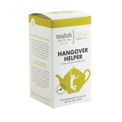 Hangover Helper tea box