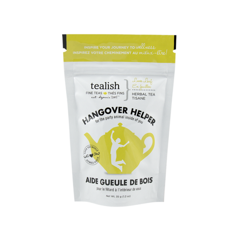 Hangover helper tea gift pouch