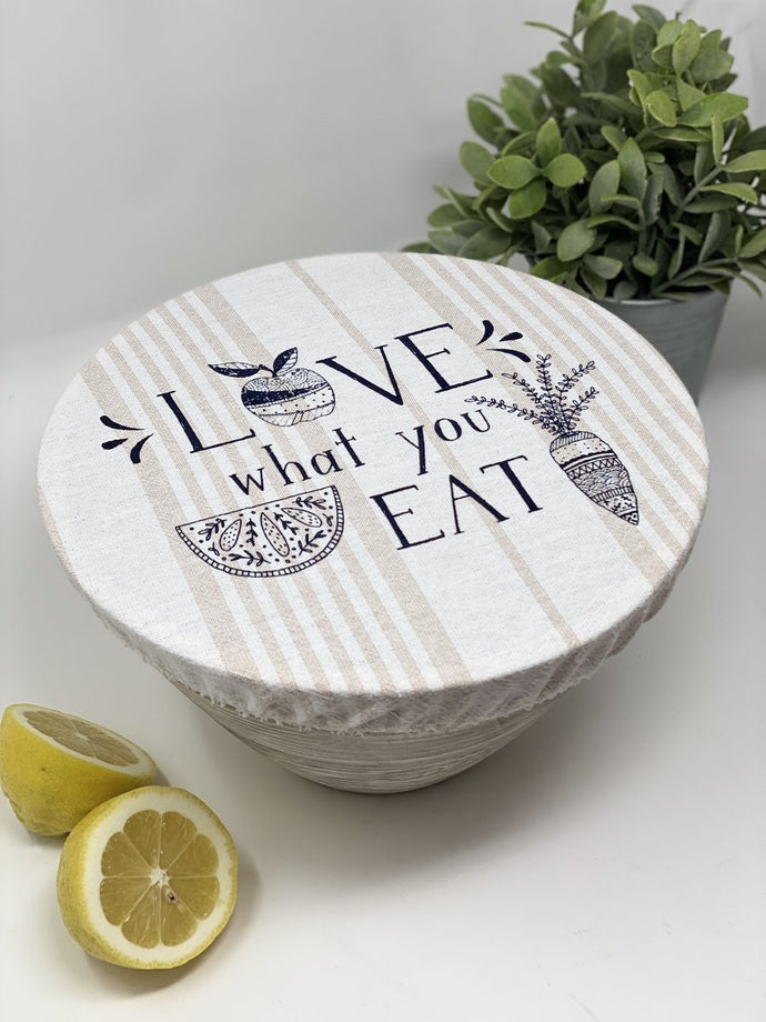 Love what you eat unwaxed Large bowl cover