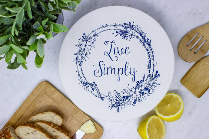 Live simply unwaxed med bowl cover