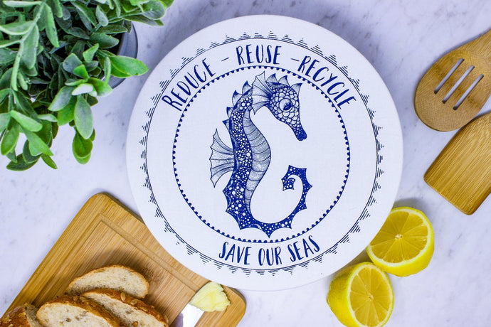 Seahorse Med. waxed bowl cover