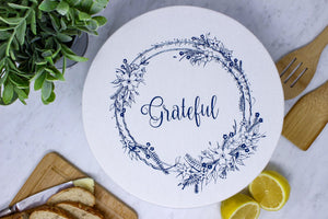 Grateful large waxed bowl cover