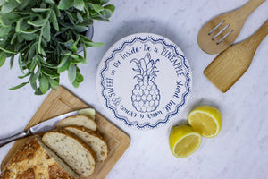 Pineapple small waxed bowl cover