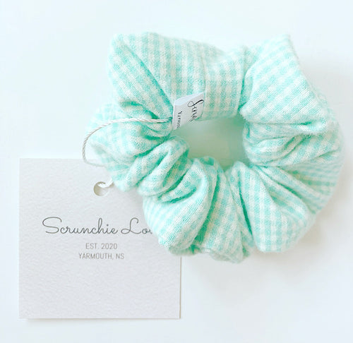 Mint Green Gingham scrunchie
