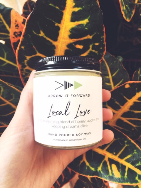 Local love mini soy candle