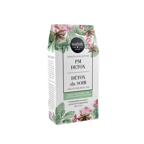 PM Detox tea box