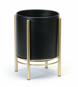 Gold/Black floor planter