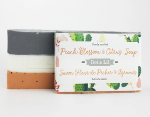 Peach citrus bar soap
