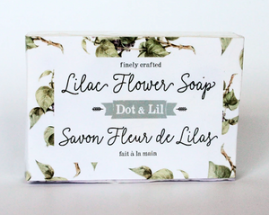 Lilac flower bar soap
