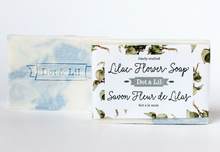 Load image into Gallery viewer, Lilac flower bar soap