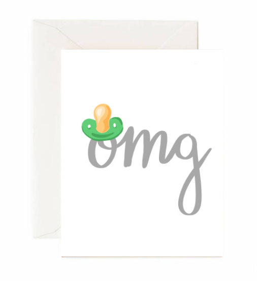 OMG (pacifier) baby card