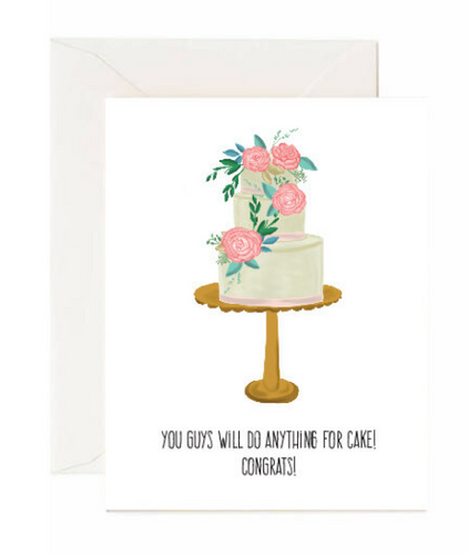 Anything for cake card