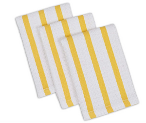 Daffodil stripe Dishcloth S/3
