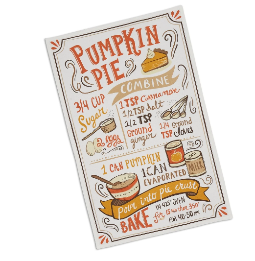 Pumpkin pie dishtowel