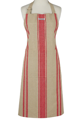 Red French Stripe Apron