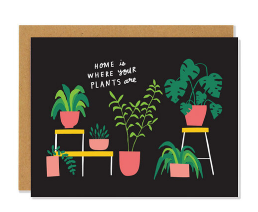 Houseplants card
