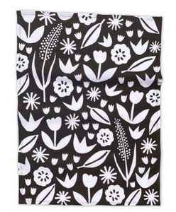 June floral tea towel