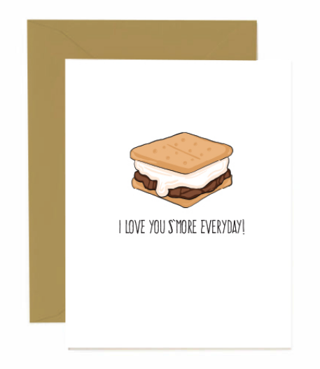 Love you s'more card