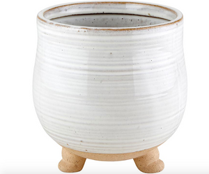 Round pot L with legs