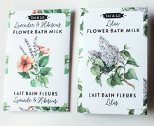Load image into Gallery viewer, Lav & Hibiscus flower bath milk sachet