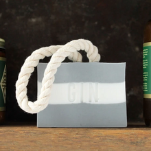 Load image into Gallery viewer, Gin cotton rope bar soap