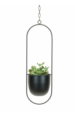 Hanging planter black