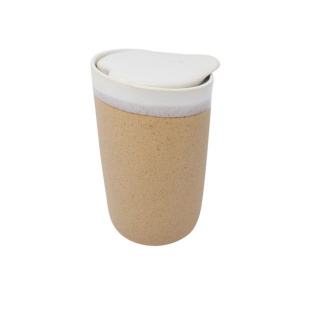 Kraft ceramic travel mug