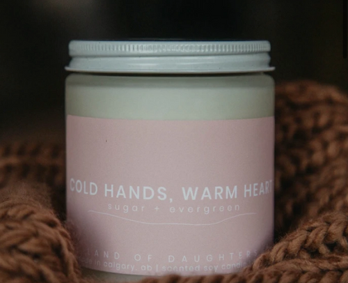 Cold hands, warm heart soy candle